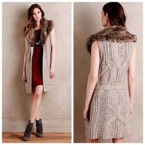Anthropologie Angel of the North Sweater Vest fur